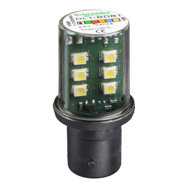 TELEMECANIQUE - signalisatielamp LED - wit - BA 15d - 24 V