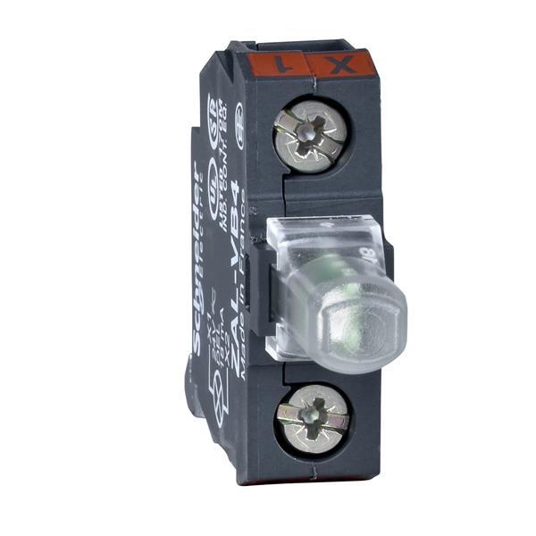 TELEMECANIQUE - bloc lumineux pour boîte à boutons - vert - DEL intégrée - 230..240 V
