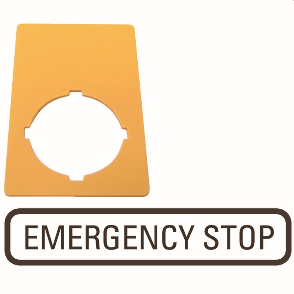 MOELLER - PLAQ ARR URG 33X50MM EMER STOP