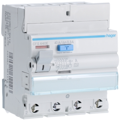 HAGER - Interrupteur différentiel 4P 40A 300mA type A qc