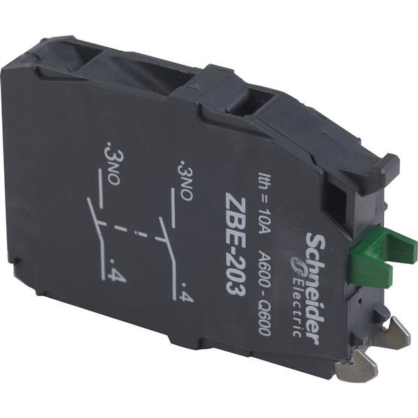 TELEMECANIQUE - Bloc contact pour bouton - ZBE Ø22 - 2F