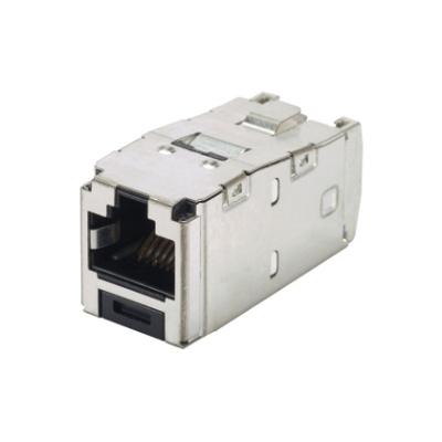 PANDUIT - Category 6A 10G RJ45 8 position shielded module + integrated shield
