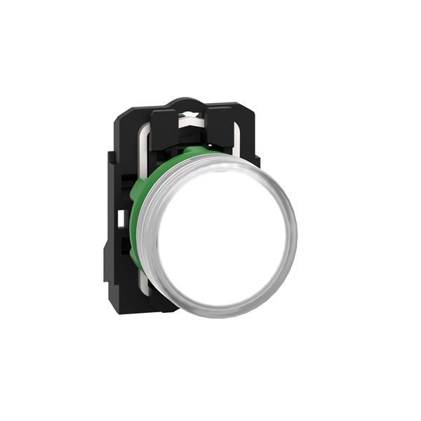 TELEMECANIQUE - controlelamp rond Ø 22 - IP 65 - wit - ingebouwde LED -24 V - klemmen