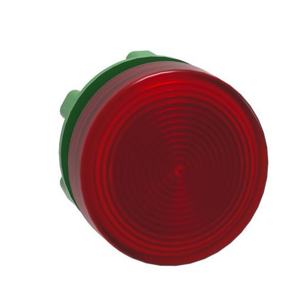 TELEMECANIQUE - tête pour voyant - Ø 22 - rond - cabochon strié rouge
