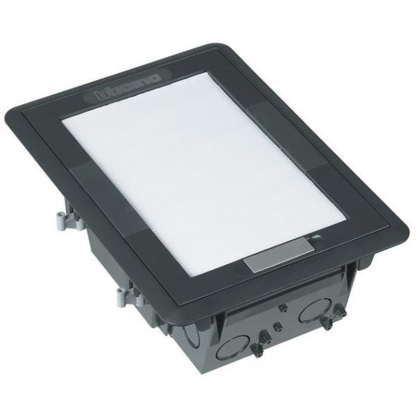BTICINO - Vloerdoos + deksel Interlink inbouw - voor 8/10 modules Magic/Living/Light/Tech