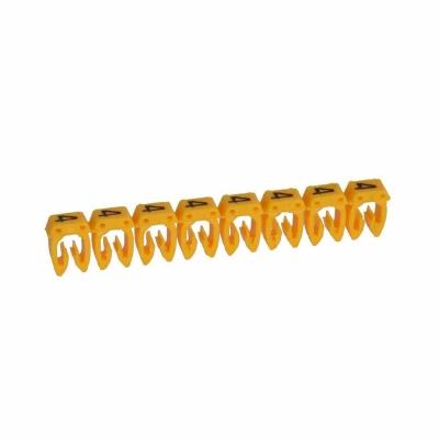 LEGRAND - Repère CAB 3 - chiffre 4 jaune - sect. 0,5 à 1,5 mm²