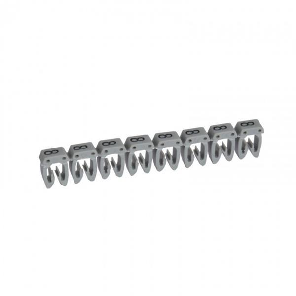 LEGRAND - Repère CAB 3 - chiffre 8 gris - sect. 0,5 à 1,5 mm²