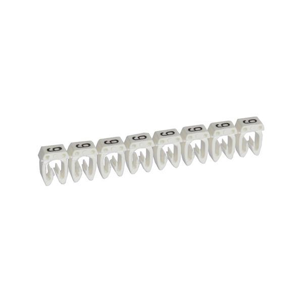 LEGRAND - CAB 3 merkteken - cijfer 9 wit - doorsnede 0,5-1,5 mm²