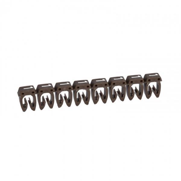 LEGRAND - Repère CAB 3 - chiffre 1 brun - sect. 1,5 à 2,5 mm²