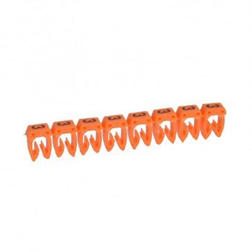 LEGRAND - CAB 3 merkteken - cijfer 3 oranje - doorsnede 1,5-2,5 mm²