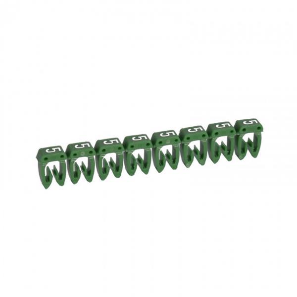 LEGRAND - Repère CAB 3 - chiffre 5 vert - sect. 1,5 à 2,5 mm²