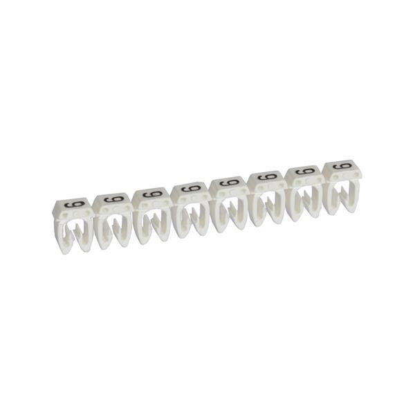 LEGRAND - Repère CAB 3 - chiffre 9 blanc - sect. 1,5 à 2,5 mm²