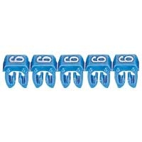 LEGRAND - CAB 3 merkteken - cijfer 6 blauw - doorsnede 4 tot 6 mm²