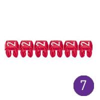 LEGRAND - CAB 3 merkteken - cijfer 7 violet - doorsnede 4 tot 6 mm²