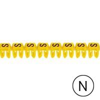 LEGRAND - Repère CAB 3 - lettre N noir/jaune - 0,5 à 1,5 mm²