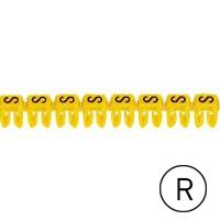 LEGRAND - Repère CAB 3 - lettre R noir/jaune - 0,5 à 1,5 mm²