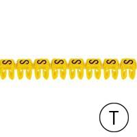 LEGRAND - Repère CAB 3 - lettre T noir/jaune - 0,5 à 1,5 mm²