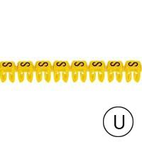 LEGRAND - CAB 3 merkteken - letter U zwart-gele achtergrond - 0,5-1,5 mm²