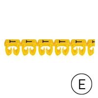 LEGRAND - CAB 3 merkteken - letter E zwart-gele achtergrond - 1,5-2,5 mm²