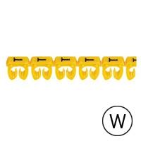LEGRAND - CAB 3 merkteken - letter W zwart-gele achtergrond - 1,5-2,5 mm²