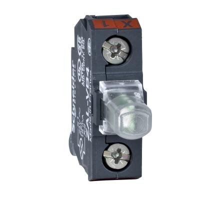 TELEMECANIQUE - bloc lumineux pour boîte à boutons - rouge - DEL intégrée - 230..240 V