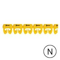 LEGRAND - Repère CAB 3 - lettre N noir/jaune - sect. 4 à 6 mm²