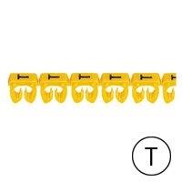 LEGRAND - Repère CAB 3 - lettre T noir/jaune - sect. 4 à 6 mm²