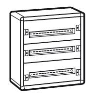 LEGRAND - Coffret XL³ 160 - 3 rangées Complet - métal - 72 modules