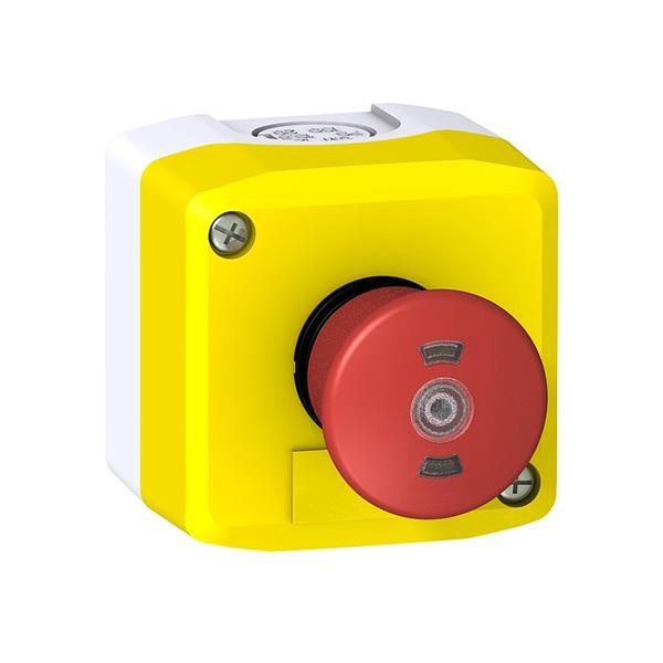 TELEMECANIQUE - Coffret d' ascenseur XAL-F - arrêt d' urgence jaune EN81 2NC