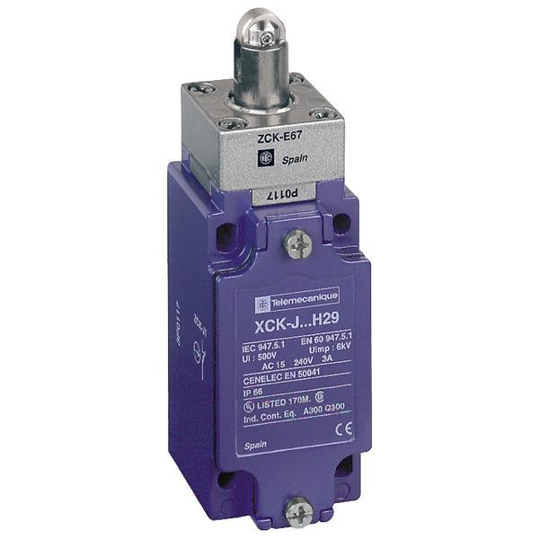 TELEMECANIQUE - interrupteur de position XCK-J - poussoir à galet - 1 O + 1 F
