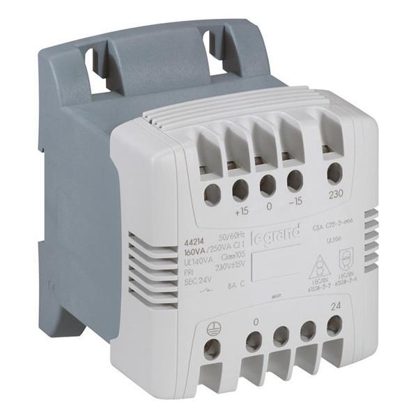 LEGRAND - Transfo com. et séc. 250 VA 230V primaire - 24V secondaire