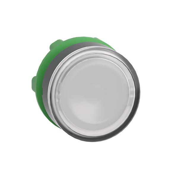 TELEMECANIQUE - tête pour bouton-poussoir lumineux  - Ø 22 - pour étiquette - blanc