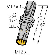 Multiprox - Sensor bondig magneet-inductief messing M12 nom 8,2V NAMUR ATEX LED conn M12