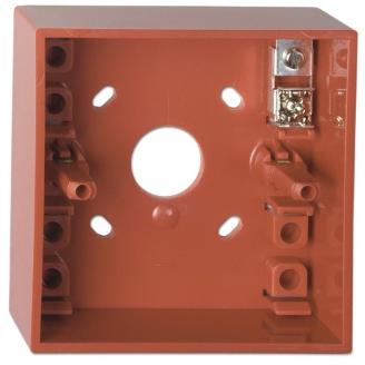 UTC Fire & Security - Standaard montagedoos met aansluitklemmen, kleur rood