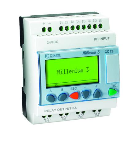 CROUZET - Millenium 3 - Compact versie - CD12 - 24V DC, 8x IN, 4x relais OUT,  LCD displa