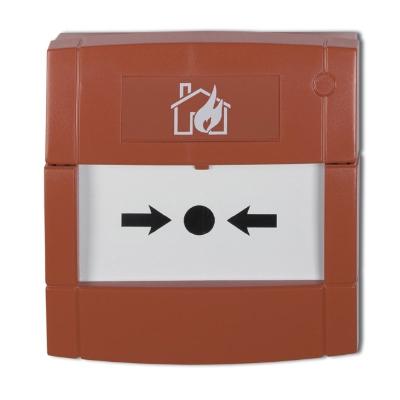 UTC Fire & Security - Branddrukknop rood, inbouw/opbouw, met breekglaasje, met connector en weerstand