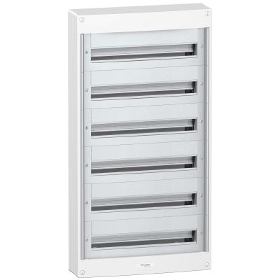 MERLIN GERIN - coffret Pragma en saillie - 6 x 24 modules  -  160 A - sans porte