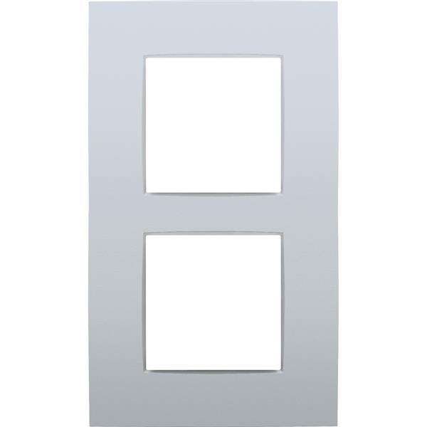 NIKO - Plaque de recouvrement (60mm) double vertical, sterling
