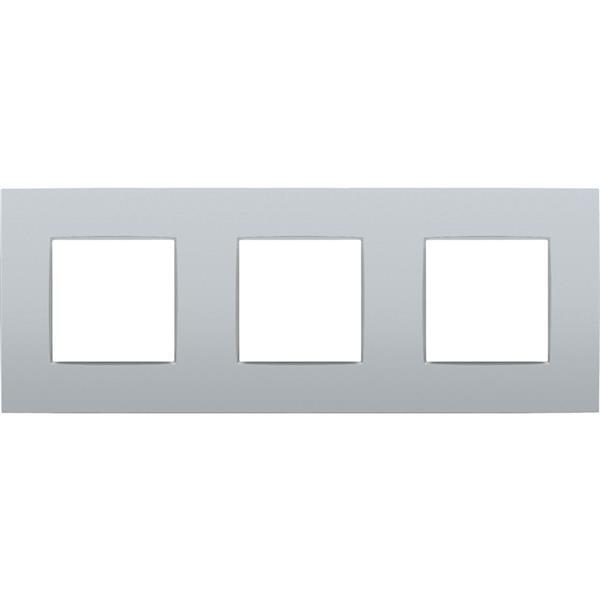 NIKO - Plaque de recouvrement (71mm) triple horizontal, sterling