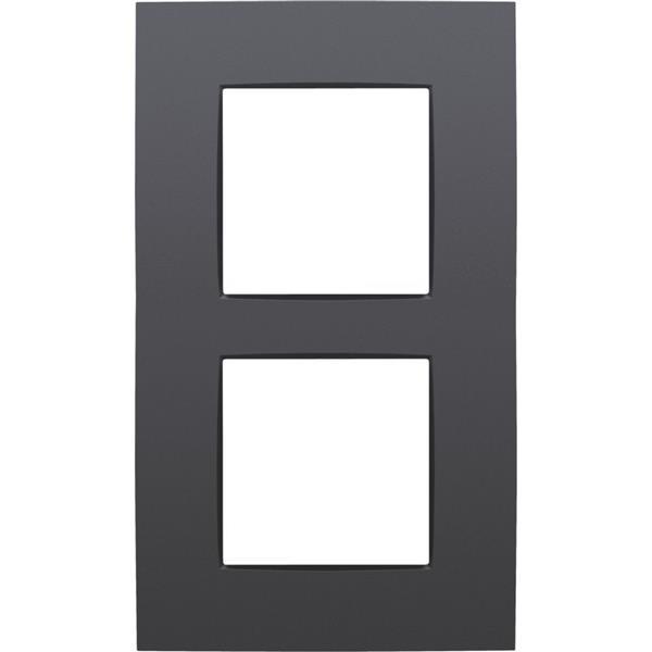 NIKO - Plaque de recouvrement (60mm) double vertical, anthracite