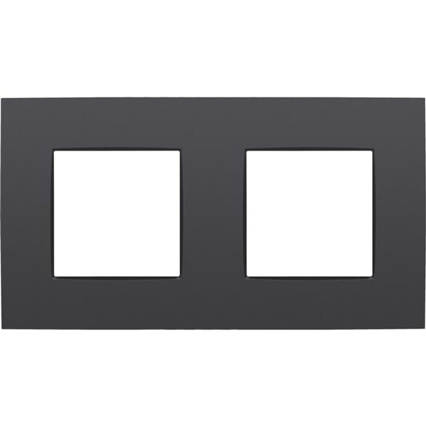 NIKO - Plaque de recouvrement (71mm) double horizontal, anthracite