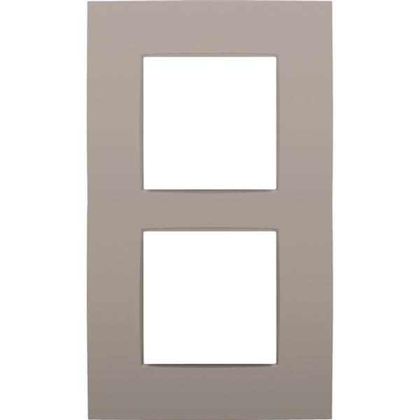 NIKO - Plaque de recouvrement (60mm) double vertical, bronze