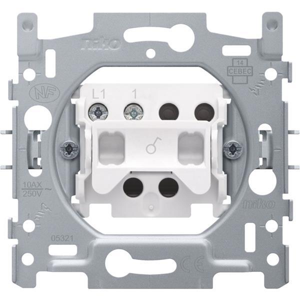 NIKO - Sokkel schakelaar 1-polig 10A 250V AC