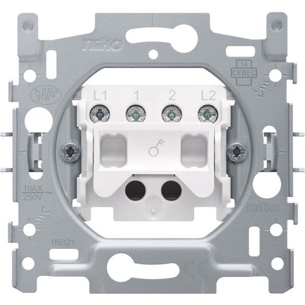 NIKO - Socle interrupteur bipolaire 10A 250V AC