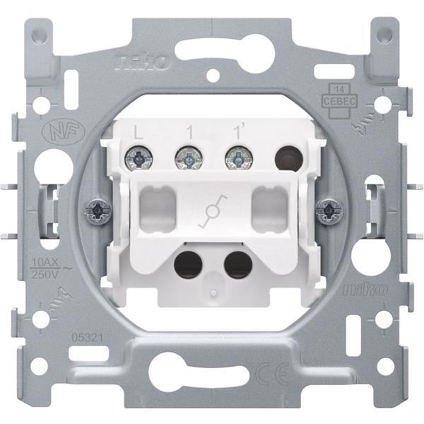 NIKO - Socle interrupteur va-et-vient 10A 250V AC