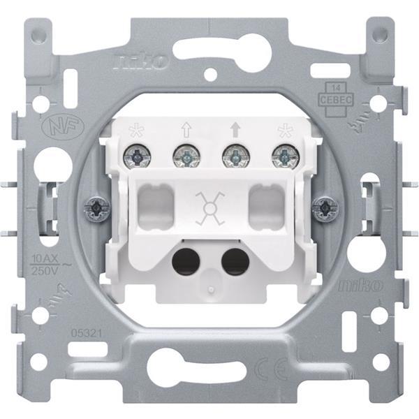 NIKO - Socle interrupteur inverseur 10A 250V AC
