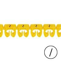 LEGRAND - Repère CAB 3 - signe / noir/jaune - sect. 4 à 6 mm²