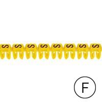 LEGRAND - CAB 3 merkteken - letter F zwart-gele achtergrond - 0,5-1,5 mm²