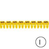 LEGRAND - Repère CAB 3 - lettre I noir/jaune - 0,5 à 1,5 mm²