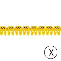 LEGRAND - CAB 3 merkteken - letter x zwart-gele achtergrond - 0,5-1,5 mm²